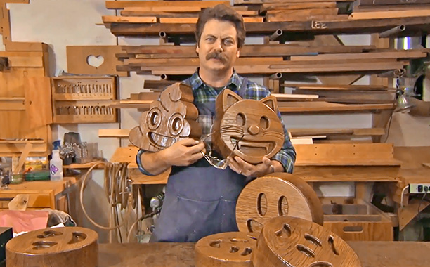 Nick Offerman's Hand Crafted Emojis