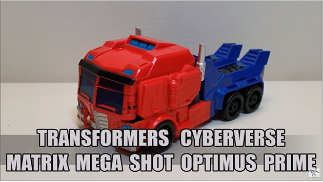That's Just Prime: TF Cyberverse Matrix Mega Shot Optimus Prime